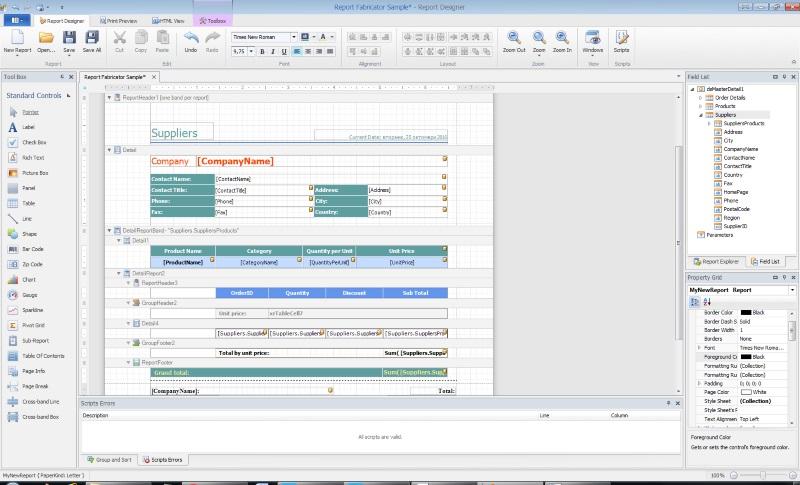 Report Fabricator screenshot